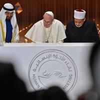 Con una carta, el Papa se unió al acto por la fraternidad humana