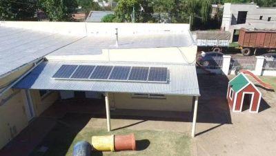 Colocaron paneles solares en un jardín de infantes de O'Higgins