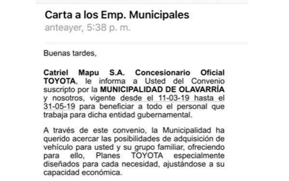 """Malestar entre los Municipales por el Convenio que firmó Galli con Toyota: """"Es una burla"""""""