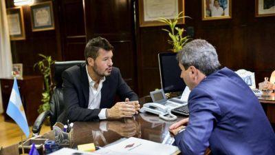 Uñac se reunió con Tinelli y coquetea con ser el vice de Lavagna