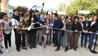 Nardini inauguró nuevo pavimento en Villa de Mayo