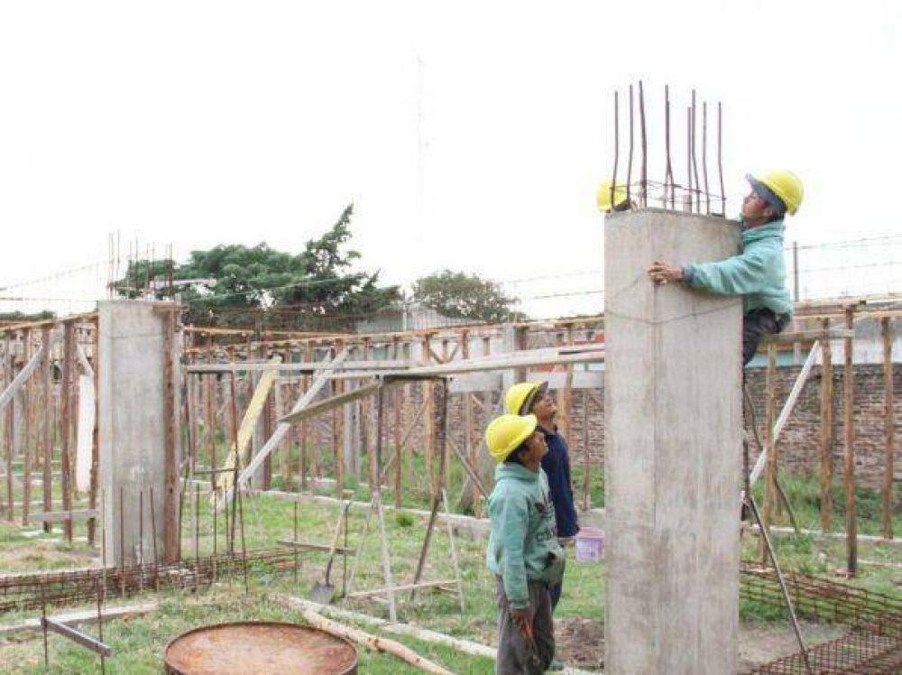 Avanzan los trabajos del Natatorio Municipal en Quequén