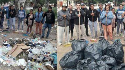 Barrios de Pie se sumaron al #BasuraChallenge por una ciudad más limpia