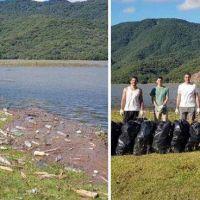 Jóvenes tucumanos se sumaron al #BasuraChallenge y limpiaron El Cadillal