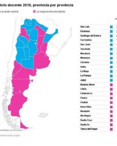Hasta el momento, San Luis es la provincia que mayor aumento fijó para los docentes