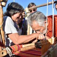El gobernador compartió la tarde con los productores y familias que participaron de la Feria en Merlo