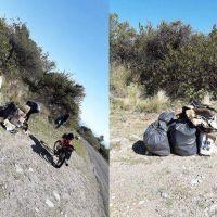 Jóvenes solidarios juntaron basura tirada en Pasos Malos