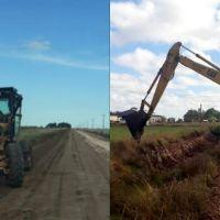 Antes de las lluvias: Arreglos en caminos en localidades del interior del distrito