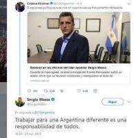 Tras 9 años, Cristina Kirchner y Sergio Massa volvieron a hablar, pero en Twitter