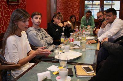 Iniciativa Primer Votante: López y la Juventud del FR recibieron a Giaccone
