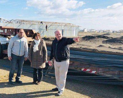 DPOSS: Autoridades recorrieron la obra de la planta sanitaria en la Margen Sur