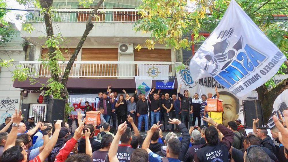 ASIMM se movilizó contra los despidos y la precarización laboral en Pedidos Ya