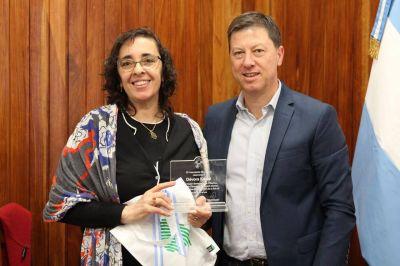 Intendente Bevilacqua reconoció a la primera mujer a cargo de la Dirección de Saludo Mental de la OMS