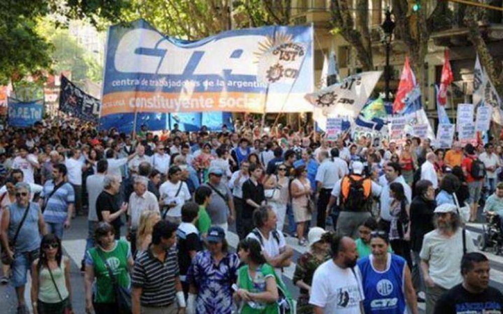 LA CTA Autónoma marcha el próximo jueves camino a un paro nacional en abril