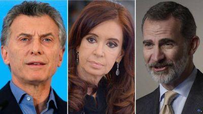 La lengua de Macri, Cristina y el rey