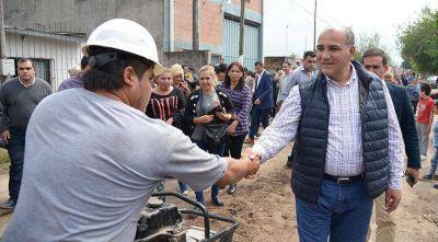 Los vecinos del barrio Belgrano cuentan con una nueva red cloacal