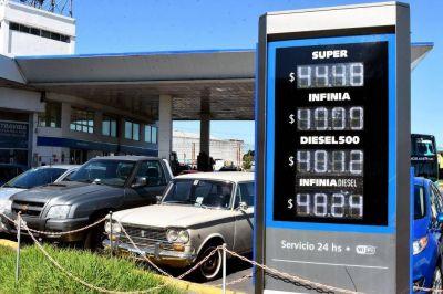 Volvió a subir la nafta y el precio de la Infinia llegó casi a 50 pesos