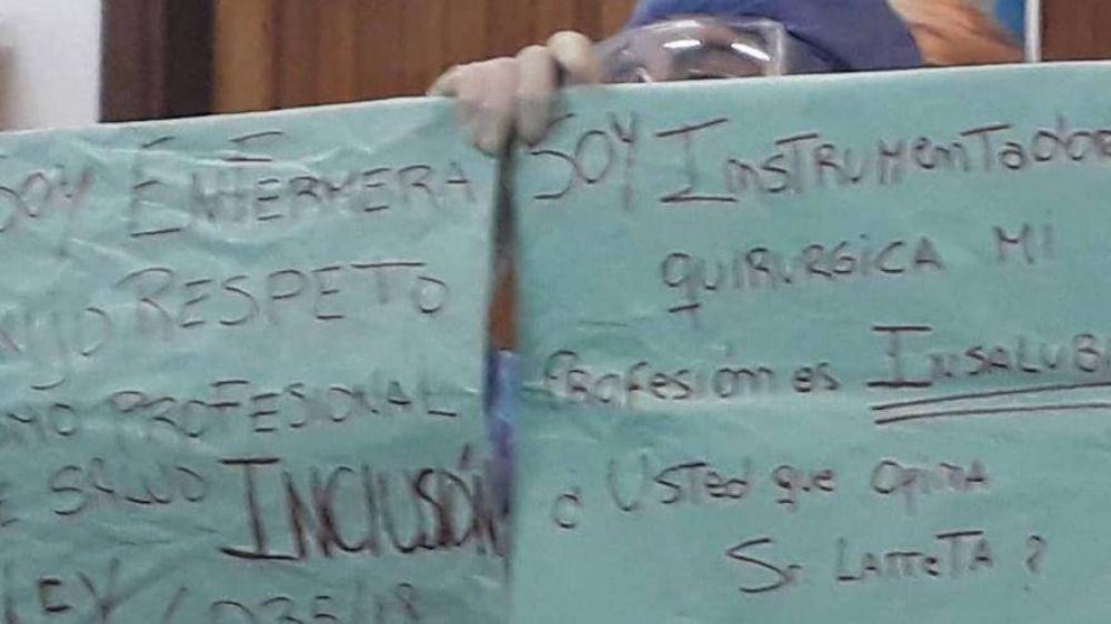 Nuevo escrache de enfermeros y profesionales de la salud no reconocidos por Larreta