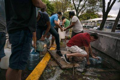 En Caracas, recortes de energía afectan suministro de agua