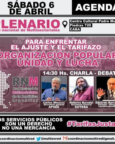 Plenario de Red Nacional de Multisectoriales