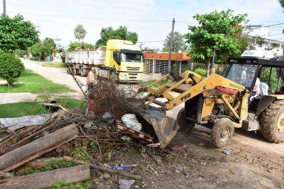 Intensos operativos de recolección de residuos no convencionales
