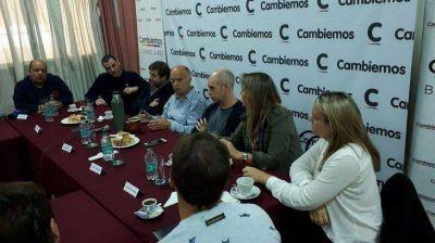Grindetti y Larreta, con legisladores y referentes de Cambiemos de la Tercera Sección