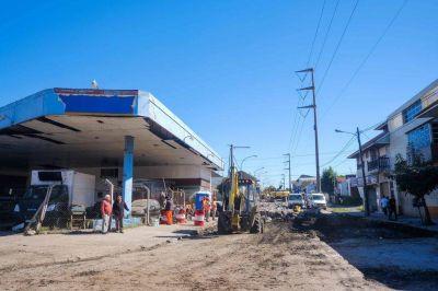 Comenzaron los trabajos de arreglo de calles en Vértiz y Edison