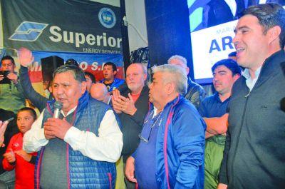 El sindicato de petroleros celebró la elección de Mariano Arcioni