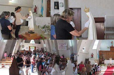 Vela recibió a la Virgen de Fátima