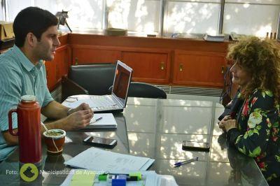El intendente recibió a Cáritas Ayacucho