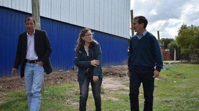 Avanza la obra del polideportivo municipal en Lezama