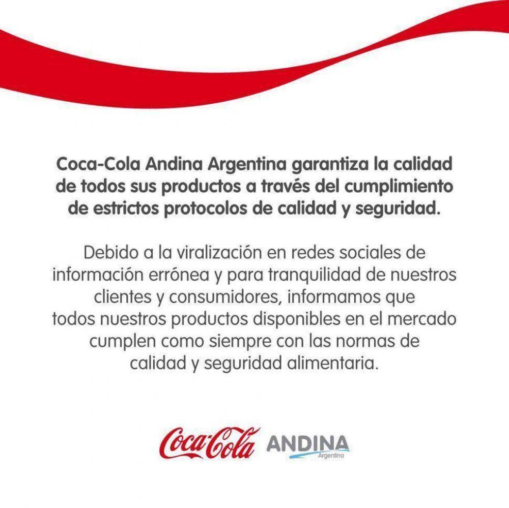 El comunicado de Coca Cola sobre el audio viralizado