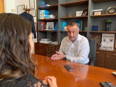 Senado: Catalán Magni destacó la visita de Lavagna al bloque de Argentina Federal