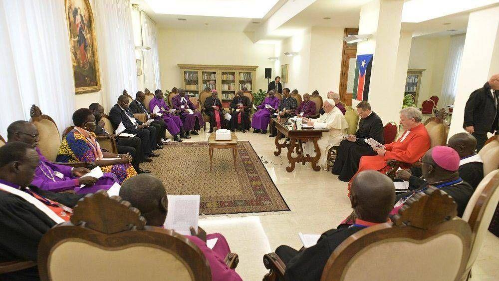 Papa a líderes de Sudán del Sur:
