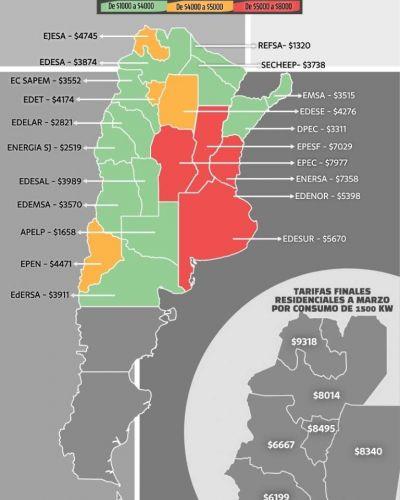 Catamarca, séptima provincia con la tarifa de luz más baja por un consumo de 750 Kw