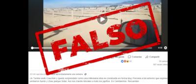 Es falso que se abandonó y se destruyó un parque solar en Jujuy