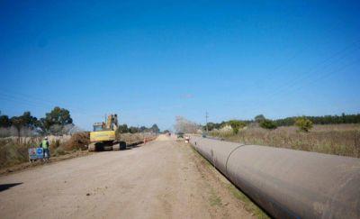 Avanza la construcción del Acueducto Oeste: se encuentra en un 43% de obra