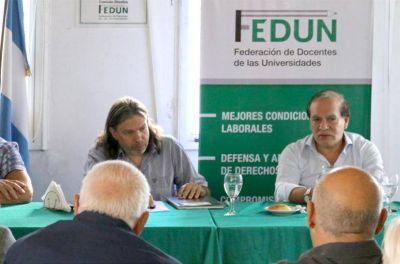 La FEDUN llevó su propuesta paritaria y se vuelve a reunir el 22