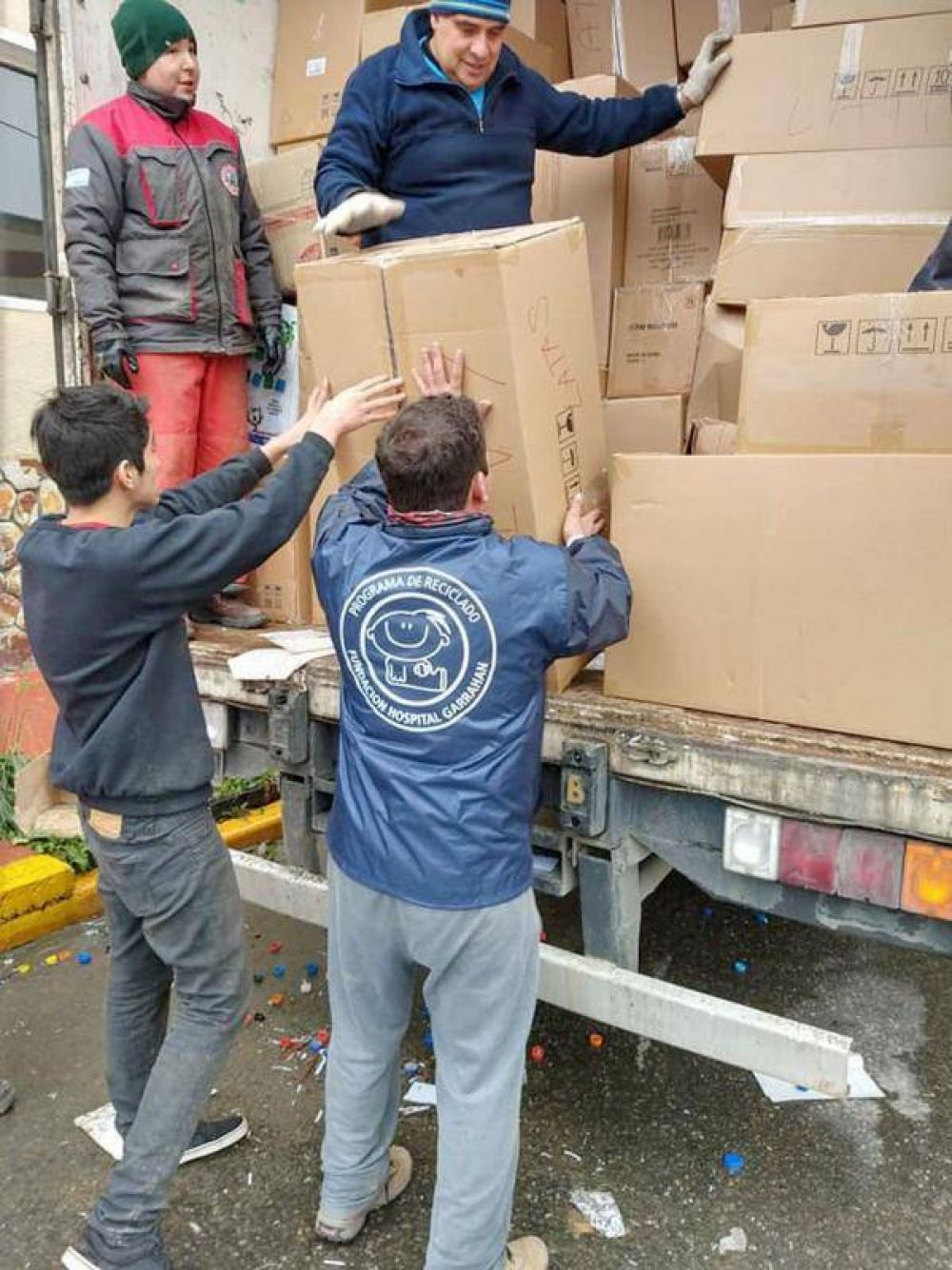 55 toneladas de materiales reciclables van camino a la Fundación Garrahan