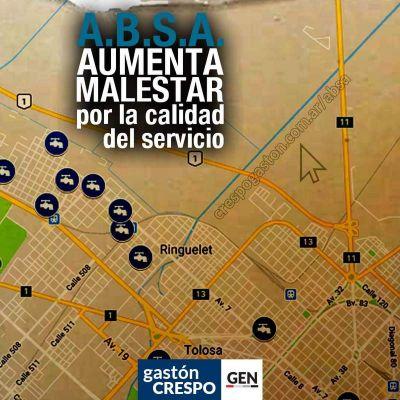 El concejal Gastón Crespo convoca a un reclamo colectivo por los problemas del servicio de agua