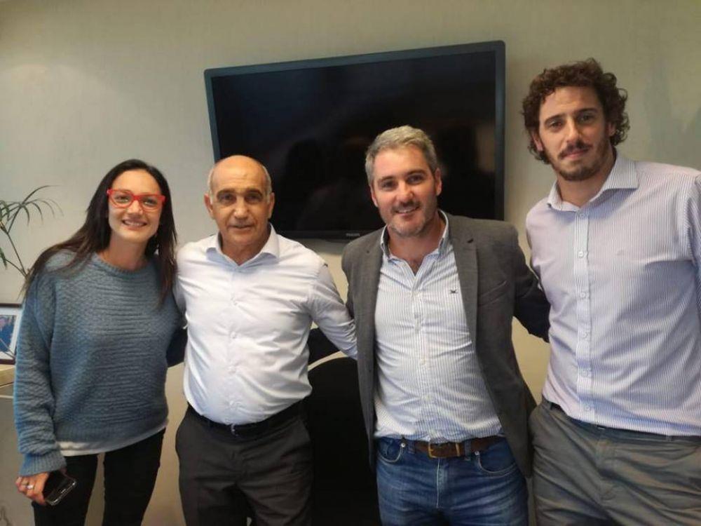 Diez junto a Maizzani y Unibaso con el vicegobernador Salvador