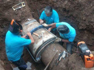 La Coopi reparó la rotura en el acueducto sin necesidad de cortar el agua