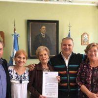 Villa Ventana: el intendente Bordoni cedió terreno al centro de jubilados