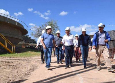 General Rodríguez: Kubar y el presidente de ABSA recorrieron la nueva planta de tratamiento de efluentes cloacales