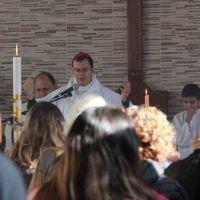 Tras la misa de Pascua, el obispo viajó a Roma a un encuentro con el Papa