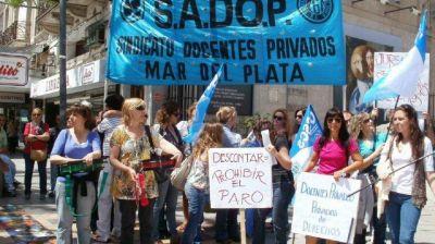 Los docentes de colegios privados se sumarán al paro del 30 de abril