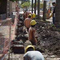 San Cristóbal: avanza la obra de ampliación del sistema de cloacas