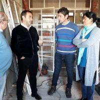 El intendente Castelli recorrió las obras del Jardín N° 903 y la Escuela Técnica N° 1 de Púan