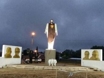 Vigilia de oración e inauguración del Paseo de la Fe en Chamical