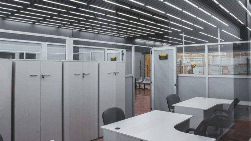 Las obras en la Terminal de Ómnibus alcanzaron un progreso del 78%